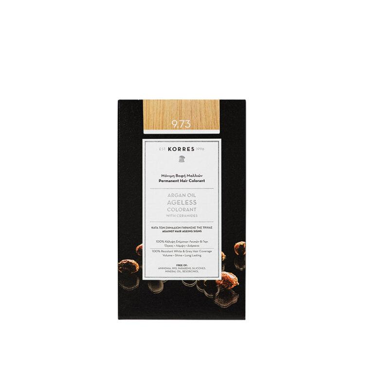 KORRES ARGAN OIL Ageless Colorant με ceramides - Χρυσό κάστανο 9.73