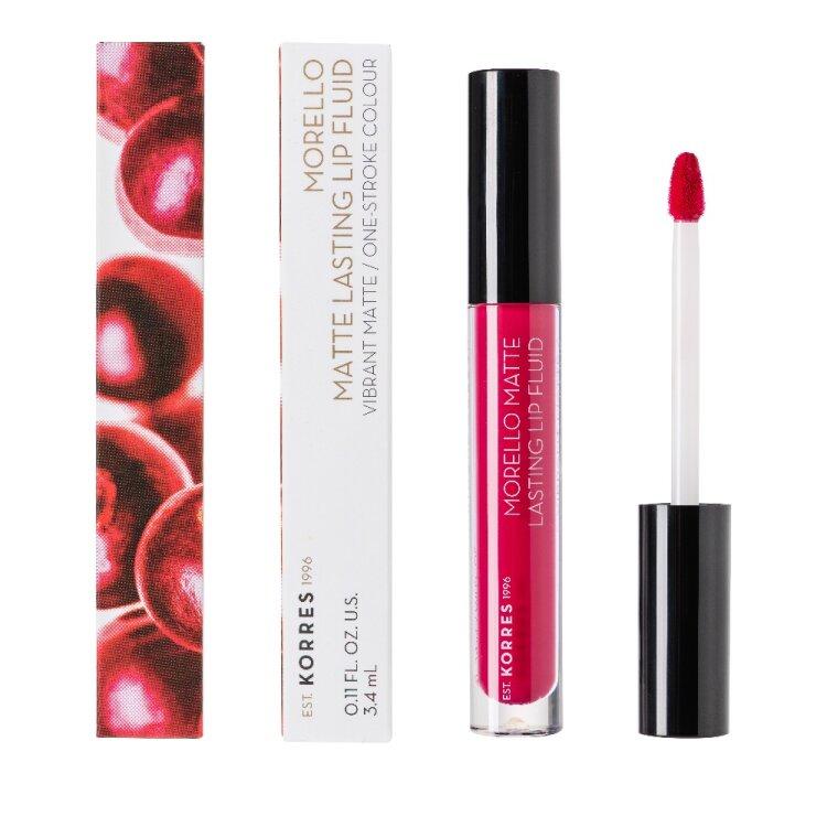 Korres Morello Matte Lasting Lip Fluid 29 Strawberry Kiss 3,4ml