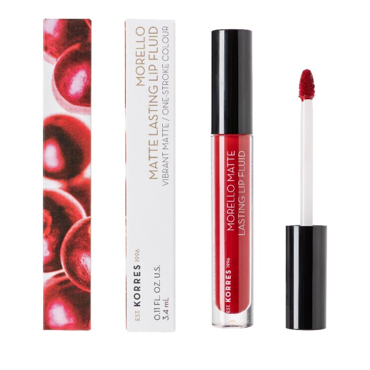 Korres Morello Matte Lasting Lip Fluid 59 Brick Red 3.4ml