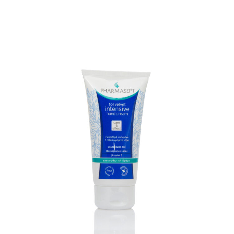 Pharmasept Tol Velvet Intensive Hand Cream, Σκασμένα Χέρια, με Υαλουρονικό οξύ, Οξέα Φρούτων 75ml