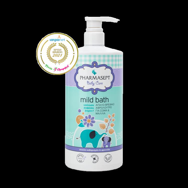 Pharmasept Baby Care Mild Bath Παιδικό Aφρόλουτρο για Σώμα & Μαλλιά  1lt