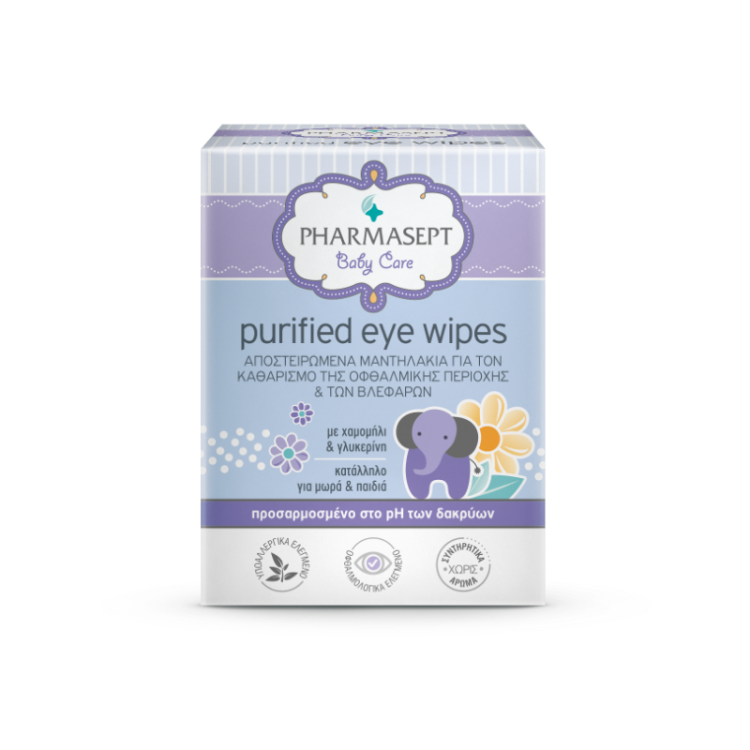 Pharmasept Purified Eye Wipes Αποστειρωμένα Μαντηλάκια για τα Μάτια 10τεμάχια