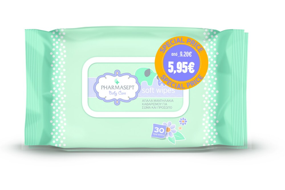 Pharmasept Baby Care Soft Wipes Promo Pack 1+1
