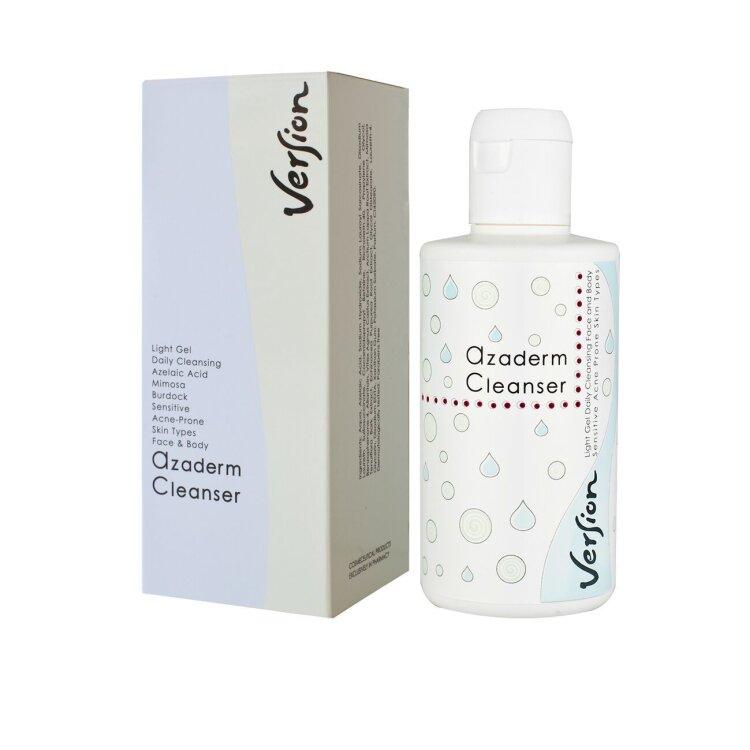 Version Derma Azaderm Cleanser Λεπτόρρευστο Gel Καθαρισμού κατά της Ακμής 200 ml