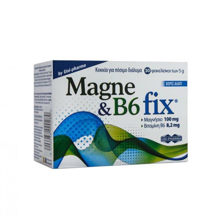 Uni-Pharma Magne & B6 Fix 30 φακελίσκοι των 5gr
