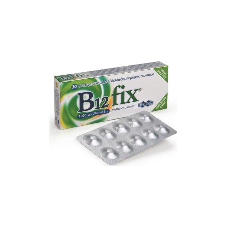 Uni Pharma Vitamin B12 Fix 1000mg 30 tabs