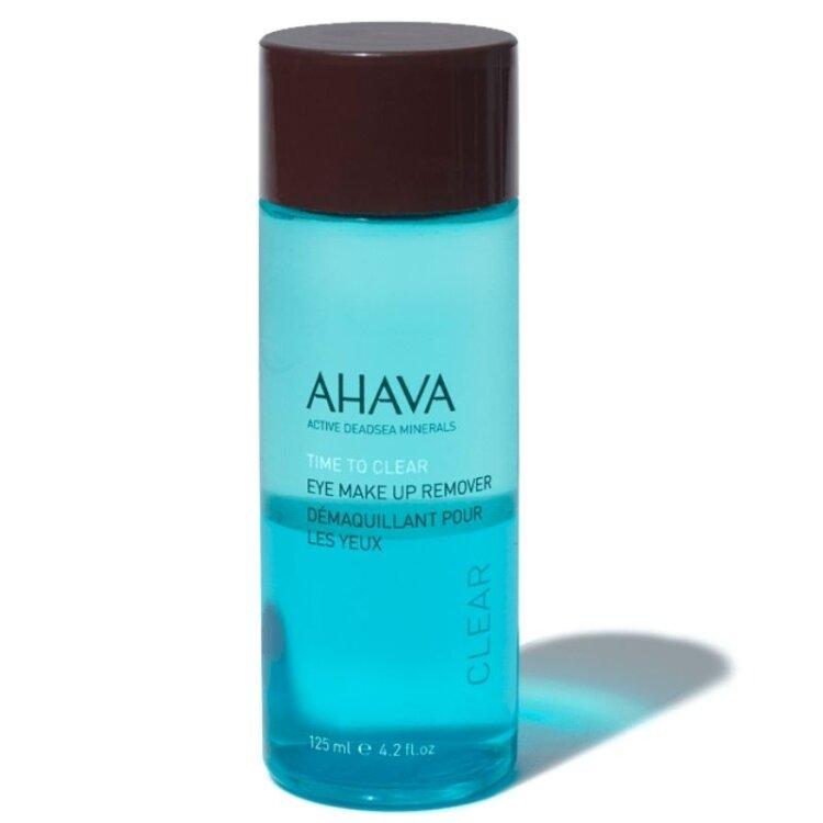 Ahava Time To Clear Eye Make-up Remover, Καθαριστικό Ματιών Για Επίμονο & Αδιάβροχο Μακιγιάζ 125ml