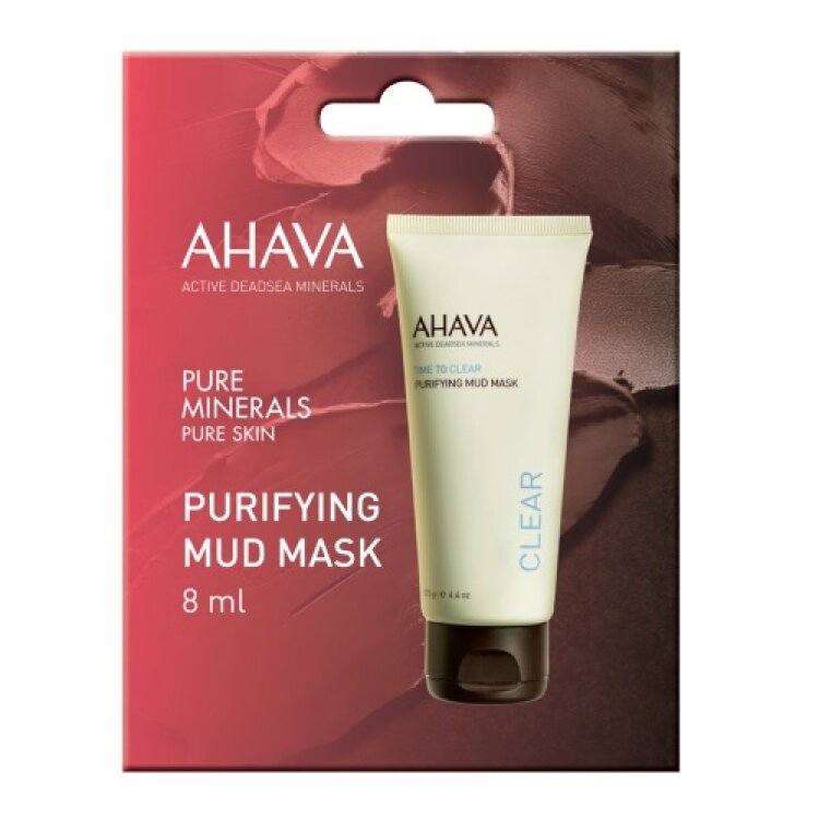 Ahava Time To Clear Purifying Mud Mask, Μάσκα Προσώπου Για Βαθύ Καθαρισμό 8ml