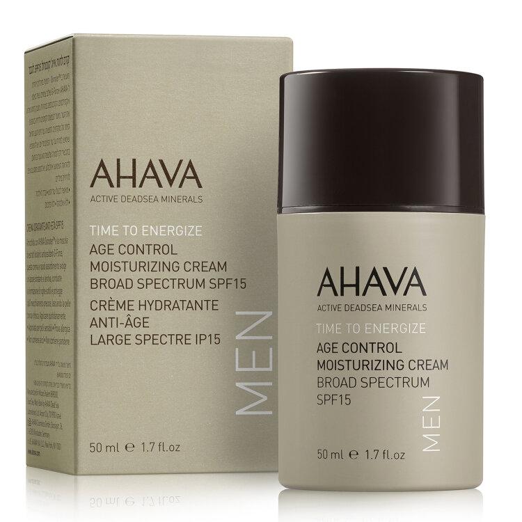 Ahava Men Time to Energize Age Control Moisturizing Cream Broad Spectrum SPF15 50ml