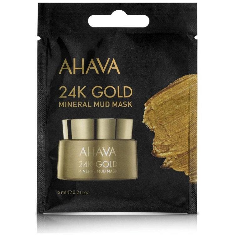 Ahava 24K Gold Mineral Mud Mask, Ενυδατική Μάσκα Προσώπου 6ml