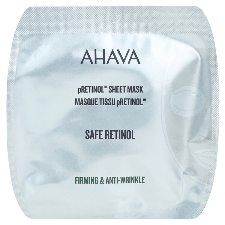 Ahava Safe pRetinol Sheet Mask Αναζωογονητική Μάσκα Προσώπου 16ml