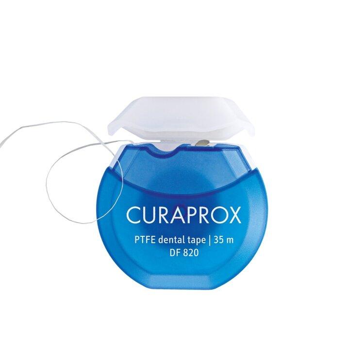 Curaprox DF 820 PTFE Dental Tape Μεσοδόντια Οδοντική Ταινία 35m