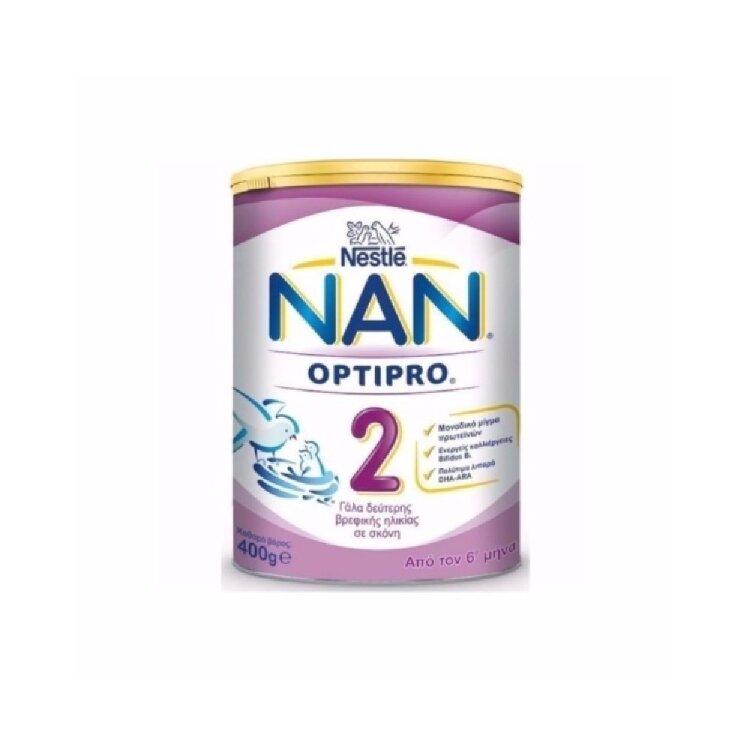 Nestle ΝΑΝ 2 Optipro Γάλα 2ης Βρεφικής Ηλικίας με Μοναδικό Μίγμα Πρωτεϊνών, 400g