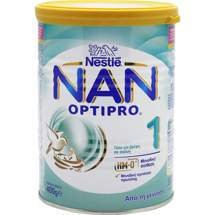 Nestle Nan Optipro 1 Γάλα Πρώτης Βρεφικής Ηλικίας 400gr