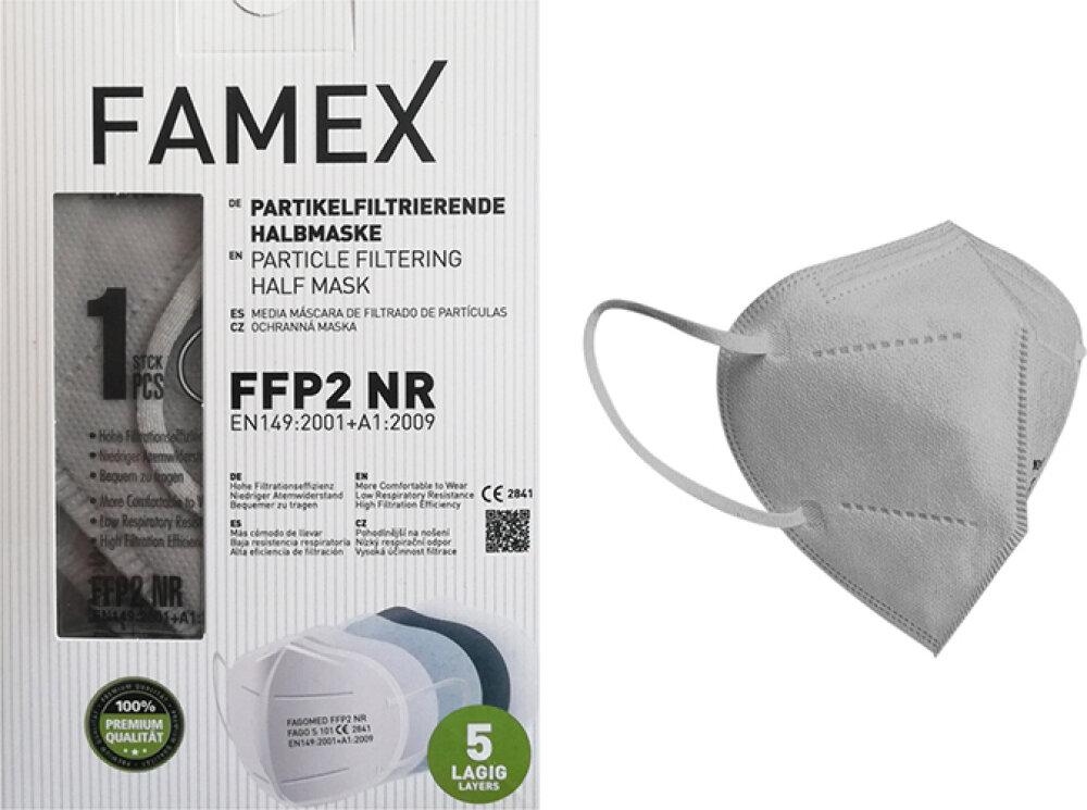 Famex FFP2 NR Grey 10τμχ Particle Filtering Half Mask
