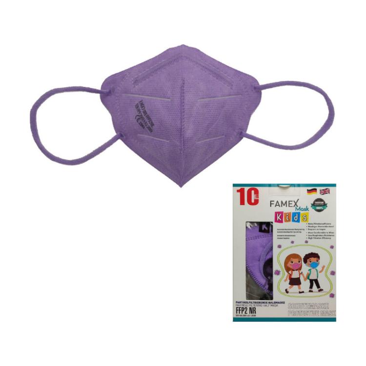 Famex Kids Mask FFP2 NR Lilac 10pcs