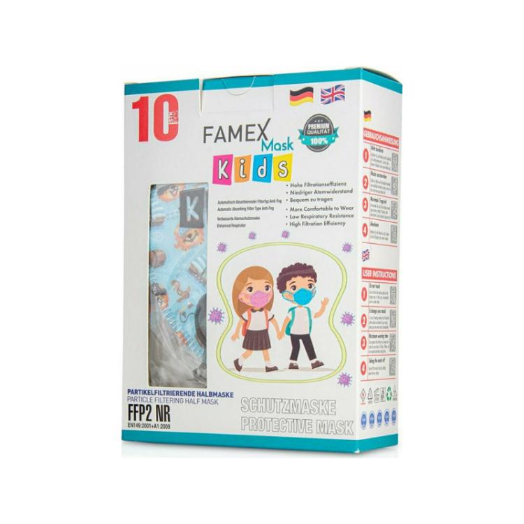 Famex Kids Mask FFP2 NR Boys Pirates 10pcs