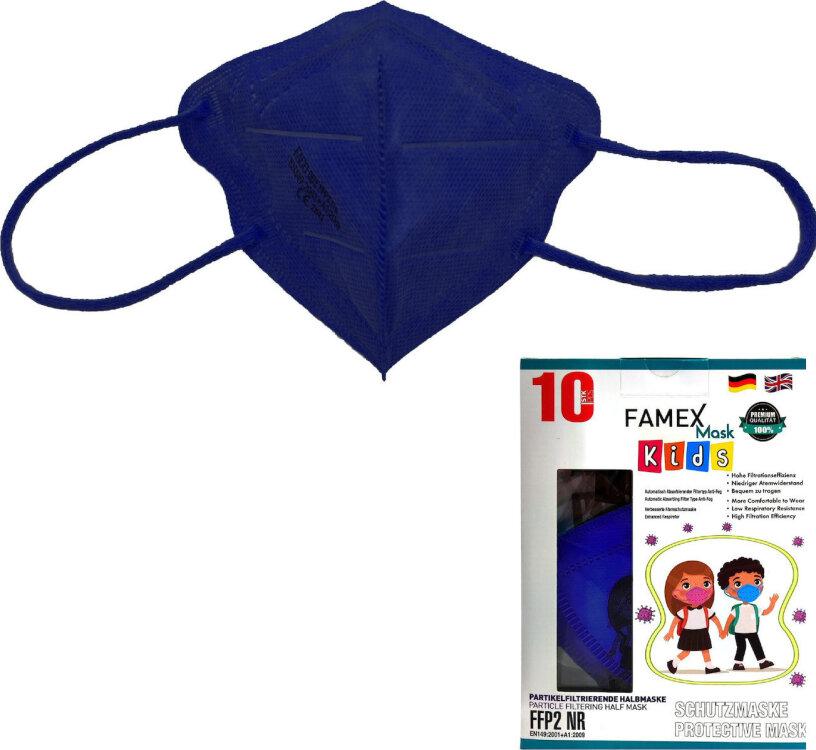 Famex Kids Mask FFP2 NR Navy Blue 10pcs