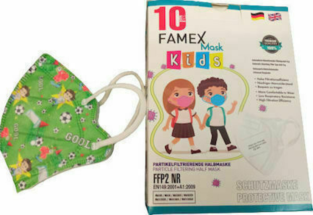 Famex Kids Mask FFP2 NR Goal 10pcs