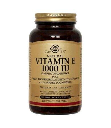 Solgar Vitamin E 671mg 1000iu 50softgels