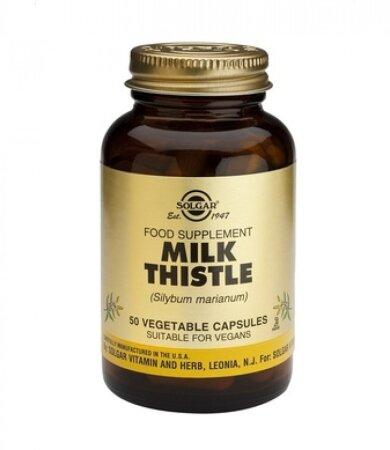 Solgar Milk Thistle, 50 Vegetable Capsules