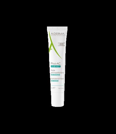 A-Derma Phys-AC Perfect Fluide για Δέρμα με Τάση Ενήλικης Ακμής 40ml