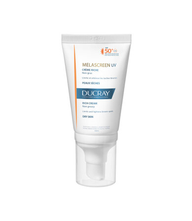 Ducray Melascreen UV Rich Cream SPF50+ Αντηλιακή Κρέμα Προσώπου Πλούσιας Υφής,  Ξηρό Δέρμα με Δυσχρωμίες 40ml