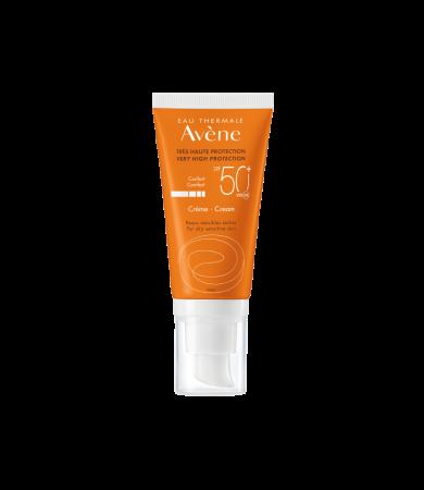 Avene Eau Thermale Solaire Creme SPF50+ Αντηλιακή Κρέμα Προσώπου για Ξηρή & πολύ Ξηρή επιδερμίδα 50ml