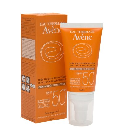 Avene Soins Solaires Creme Teintee SPF50+ Αντηλιακή Προσώπου με Χρώμα για Ξηρό/Ευαίσθητο Δέρμα 50ml