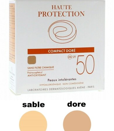 Avene Soins Solaires Compact Teinte SPF50+ Sable, Αντιηλιακό Make Up 10gr