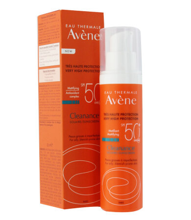 Avene Eau Thermale Cleanance Solaire SPF50+ Αντηλιακό Γαλάκτωμα για Λιπαρό & με τάση Ακμής επιδερμίδα 50ml
