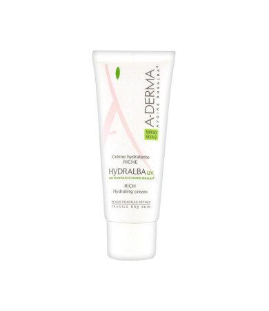 A-Derma Hydralba UV Rich Hydrating Cream Ενυδατική Κρέμα Προσώπου με Αντηλιακή Προστασία SPF20 40ml