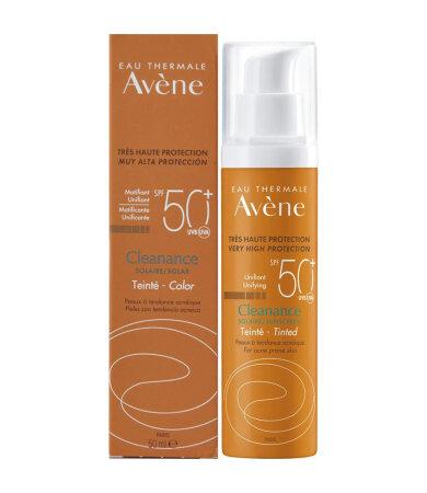 Avene Soins Solaires Cleanance SPF50+ Teinte Αντηλιακή Προσώπου με Χρώμα για Λιπαρές Επιδερμίδες 50ml