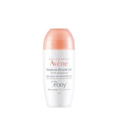 Avene Body Deodorant Efficacite 24h Roll-On Αποσμητικό 50ml