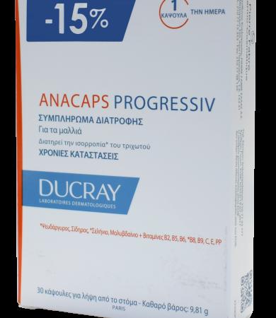 Ducray Anacaps Progressiv Συμπλήρωμα Διατροφής για τα Μαλλιά 30Caps