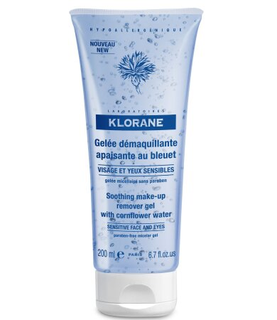 Klorane Soothing Make-up Remover Gel with Cornflower 200ml