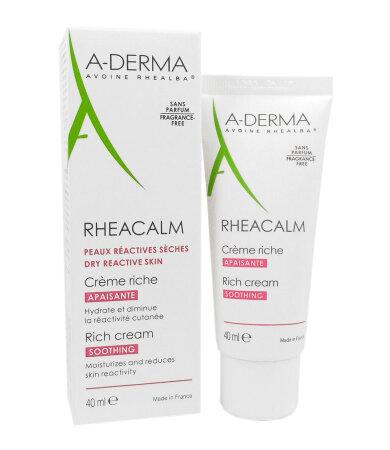 A-Derma Rheacalm Creme Apaisante Riche, Καταπραϋντική-Ανακουφιστική Κρέμα 40ml