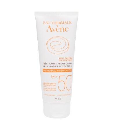 Avene Soins Solaires Mineral, Αντηλιακό Γαλάκτωμα για μη Ανεκτικό Δέρμα SPF50+ 100ml