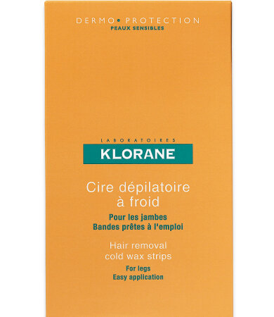 Klorane Depilatoires Ταινίες Αποτρίχωσης με Κερί για Πόδια 6τμχ