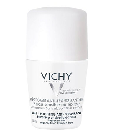 Vichy Deodorants 48ωρη Αποσμητική Φροντίδα για Ευαίσθητες ή Αποτριχωμένες Επιδερμίδες 50ml