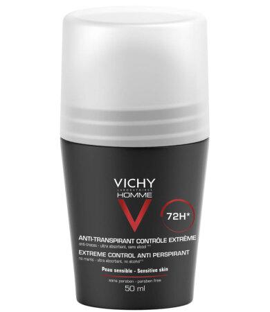Vichy Homme 72H Αποσμητικό κατά της έντονης εφίδρωσης, 50ml