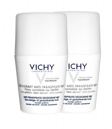 Vichy Promo Deodorant Stress Resist 48ώρες Roll-On Ευαίσθ/Αποτριχωμένες 50ml, Το 2ο στη Μισή Τιμή