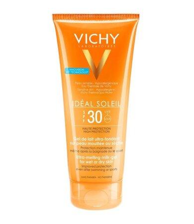 Vichy Ideal Soleil Έξτρα Απαλό Γαλάκτωμα-Gel για Νωπή ή Στεγνή Επιδερμίδα SPF30 200ml
