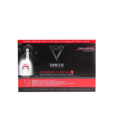 Vichy Dercos Aminexil Clinical 5 Πρόγραμμα κατά της Τριχόπτωσης Πολλαπλής Στόχευσης, 21 Μονοδόσεις