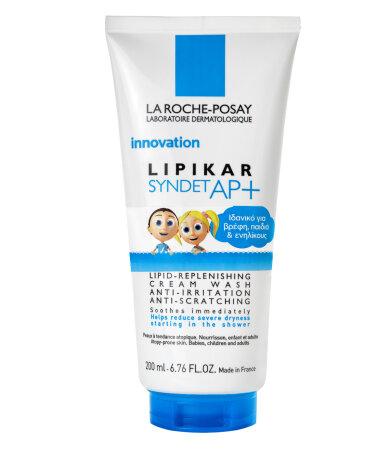 La Roche Posay Lipikar Syndet ΑP+, Κρέμα Καθαρισμού Αναπλήρωσης Λιπιδίων Κατά των Ερεθισμών 200ml