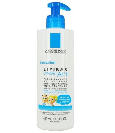 La Roche Posay Lipikar Syndet ΑP+, Κρέμα Καθαρισμού Αναπλήρωσης Λιπιδίων Κατά των Ερεθισμών 400ml