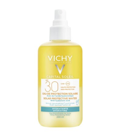 Vichy Capital Soleil SPF30 Νερό Προστασίας Από τον Ήλιο με Υαλουρονικό Οξύ για Ενυδάτωση 200ml