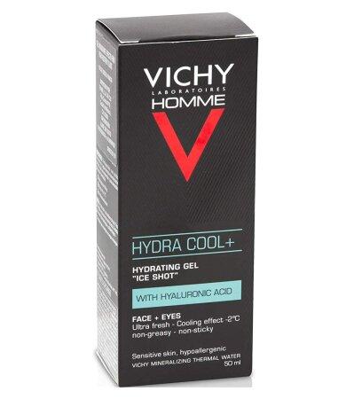 Vichy Homme Hydra Cool Ενυδατικό Τζελ για Πρόσωπο/Μάτια με Υαλουρονικό Οξύ 50ml