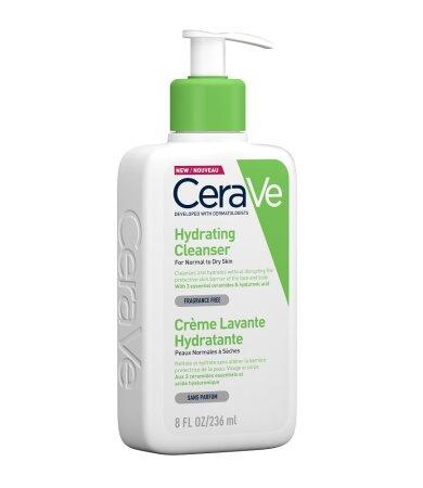 CeraVe Κρέμα Καθαρισμού Προσώπου/Σώματος Για Κανονικό/Ξηρό Δέρμα 8ΟΖ 236ml