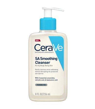 Cerave SA Smoothing Cleanser Τζελ Καθαρισμού & Απολέπισης της Ξηρής Επιδερμίδας 236ml